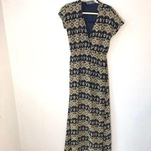 Costa Blanca maxi dress short sleeve boho print s